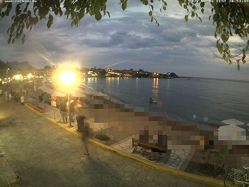Stoupa beach, Kalogria Webcam Greece